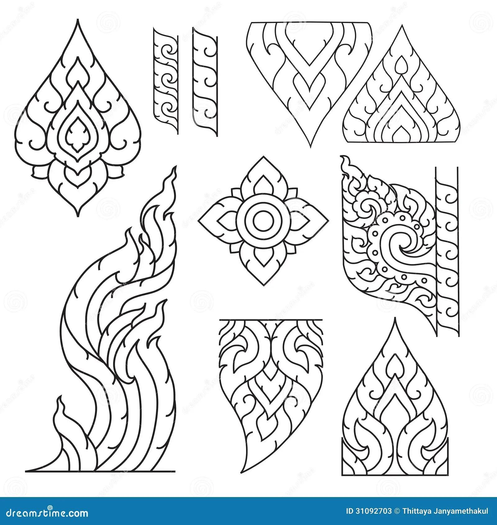 Thai Basic Ornament Stock Illustration Image Of Beautiful