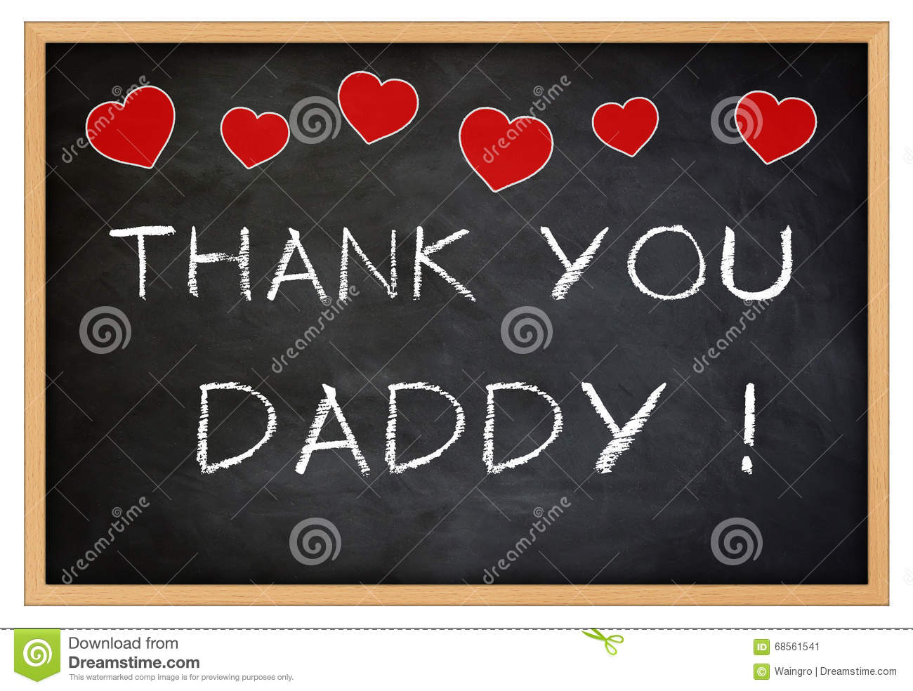 Thank You Daddy Stock Illustration Image Of Thank Father