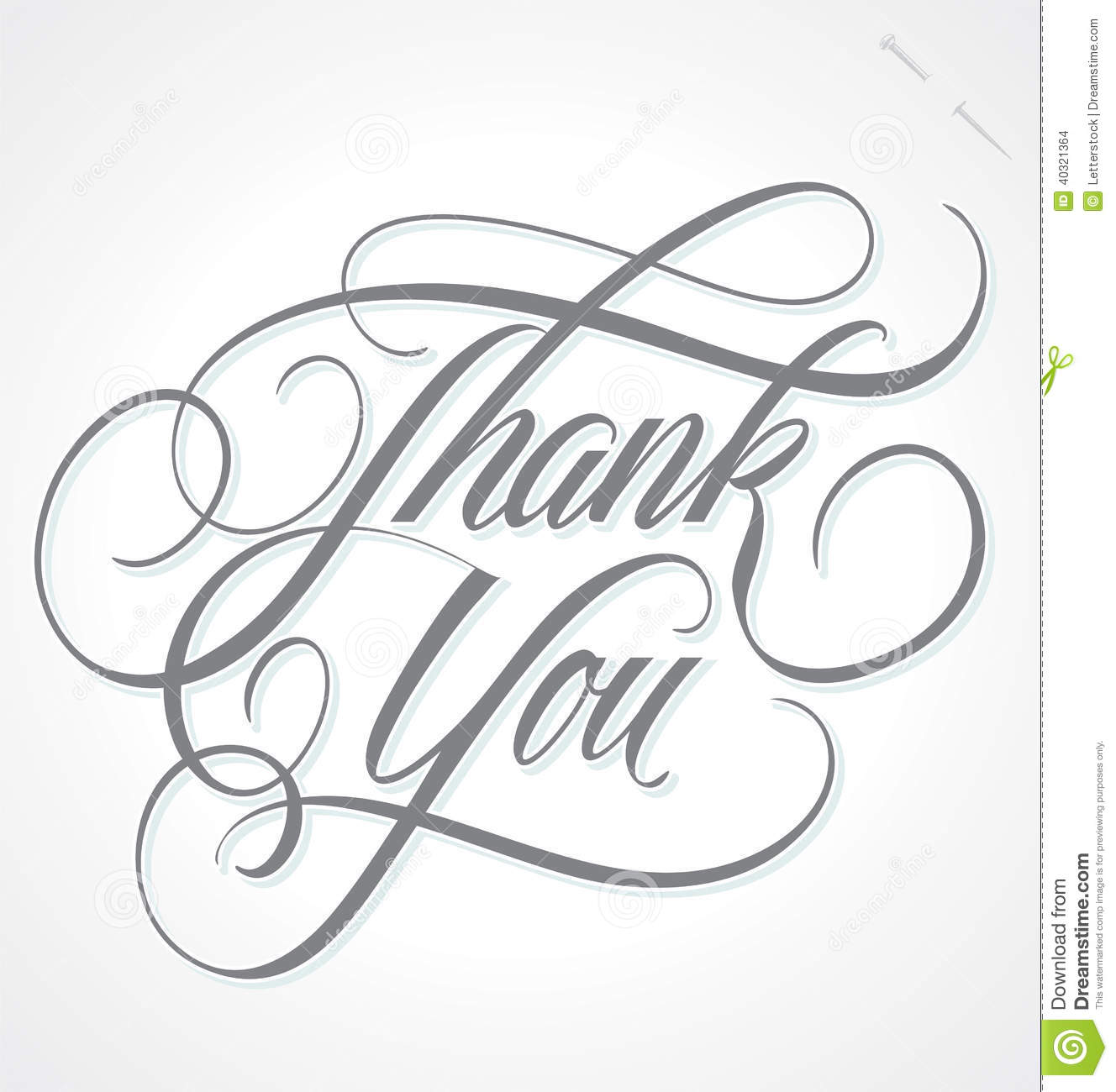 Thank You Hand Lettering Vector Stock Vector