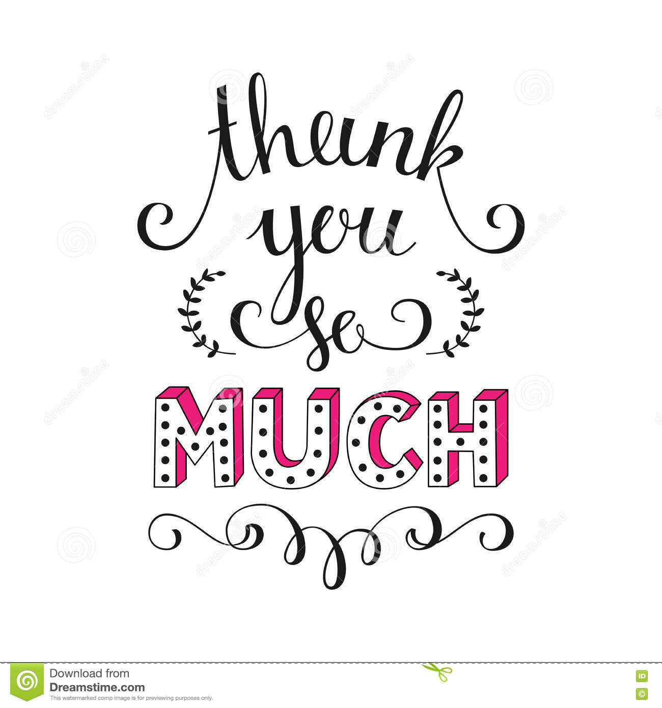 Thank You So Much Vector Illustration Stock Vector