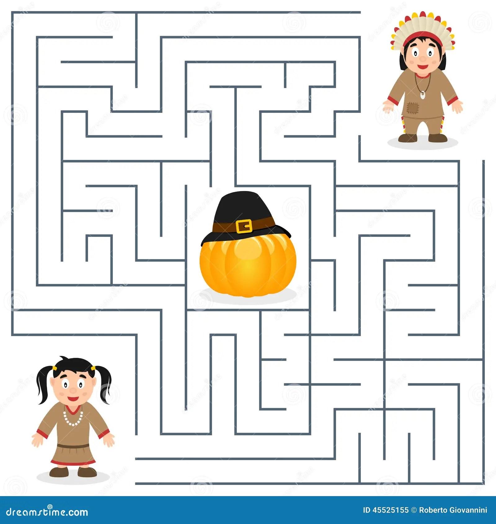 Thanksgiving Maze For Kids