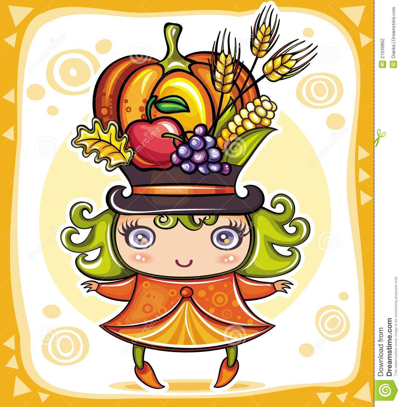 Spinach And Berries Clip Art