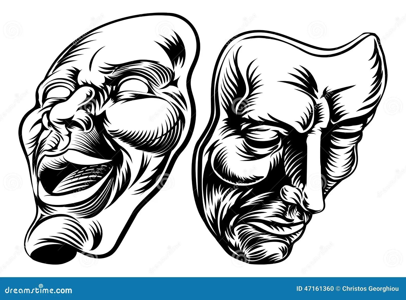 Theater Masks Stock Vector