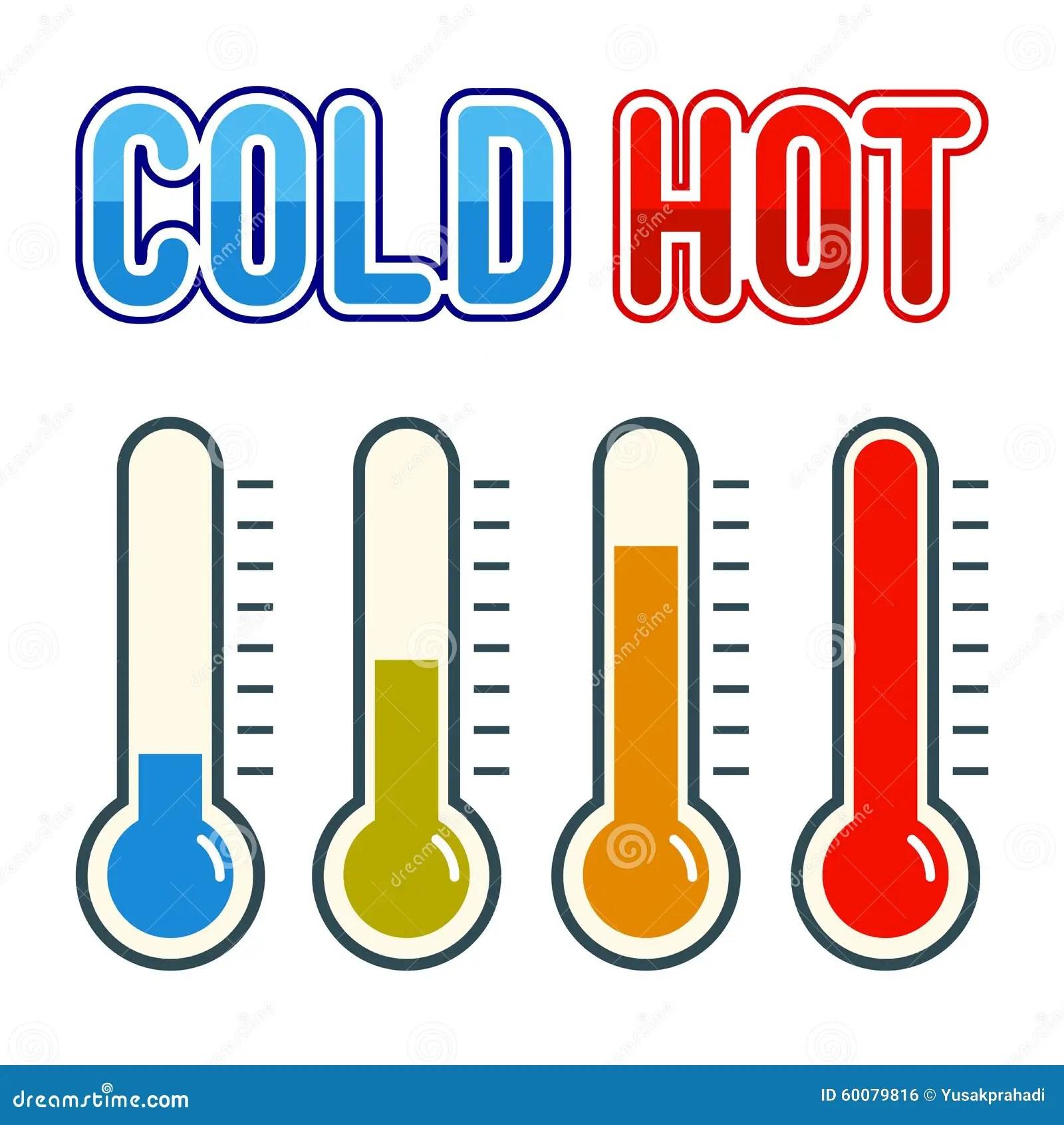 Thermometer Symbol Hei Und Kalt Vektor Abbildung