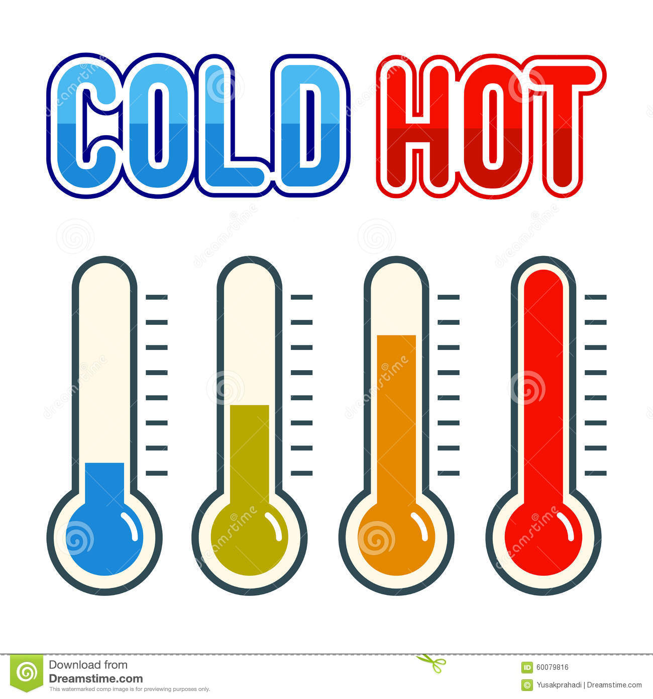 Thermometer Symbol Hot And Cold Stock Vector