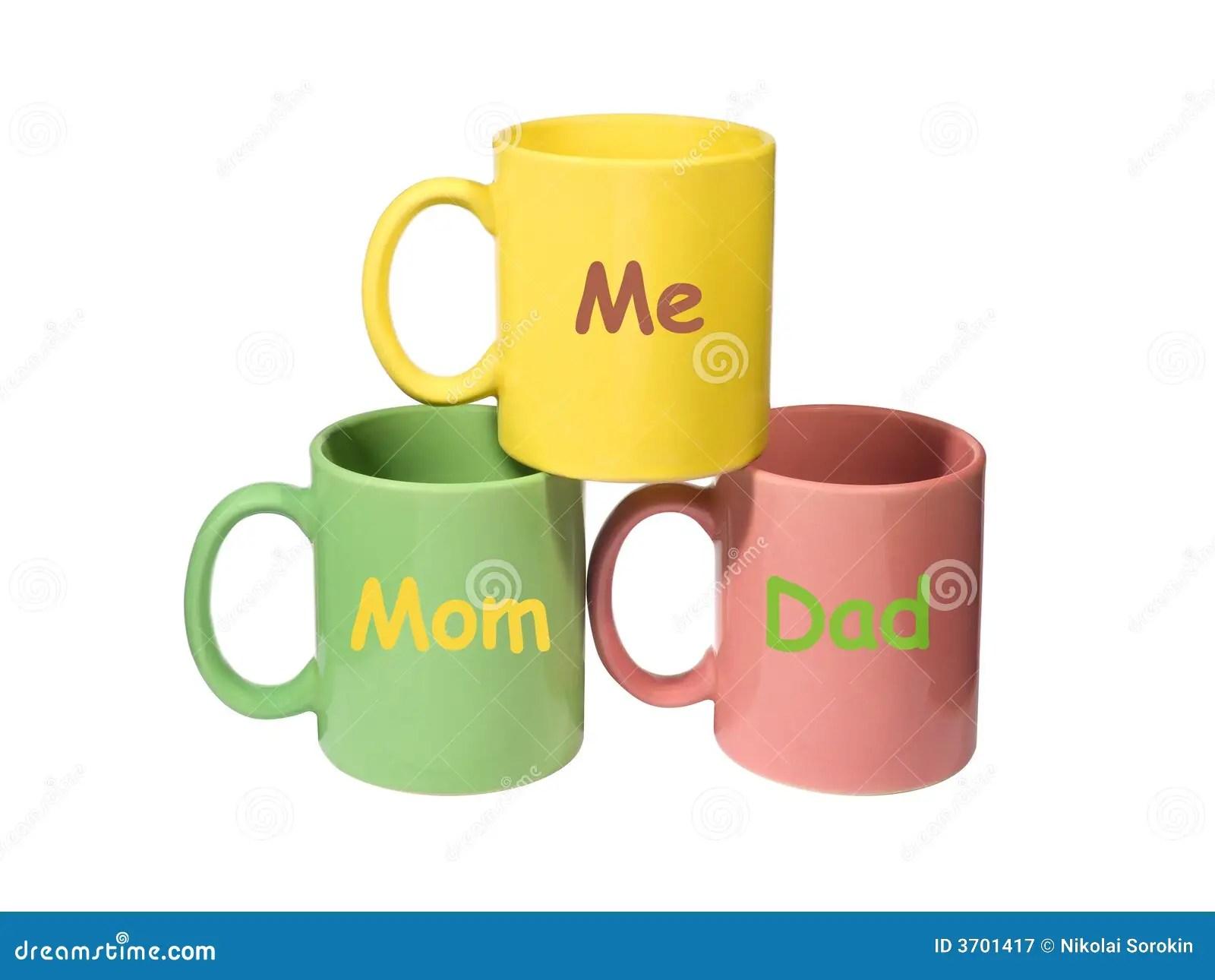 Three Colorful Mugs
