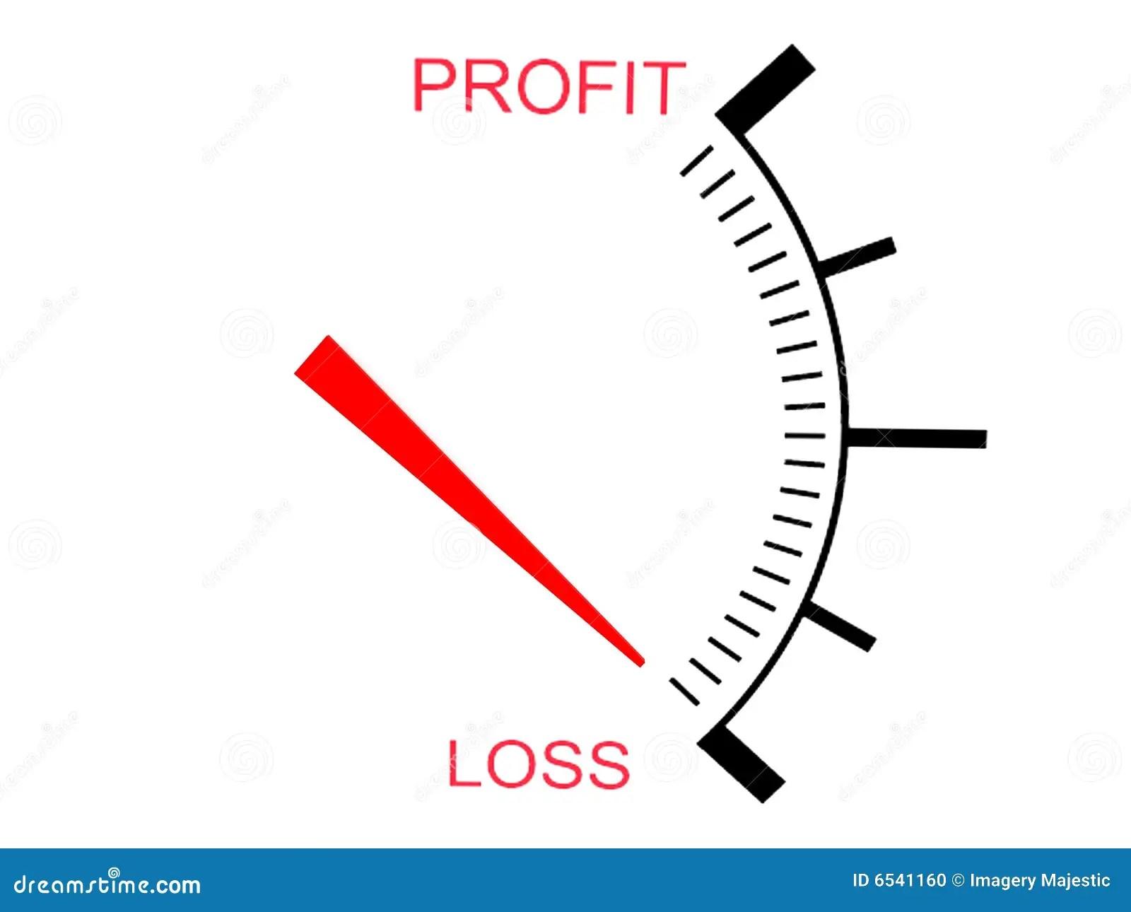 Three Dimensional Business Loss Gauge Stock Photo