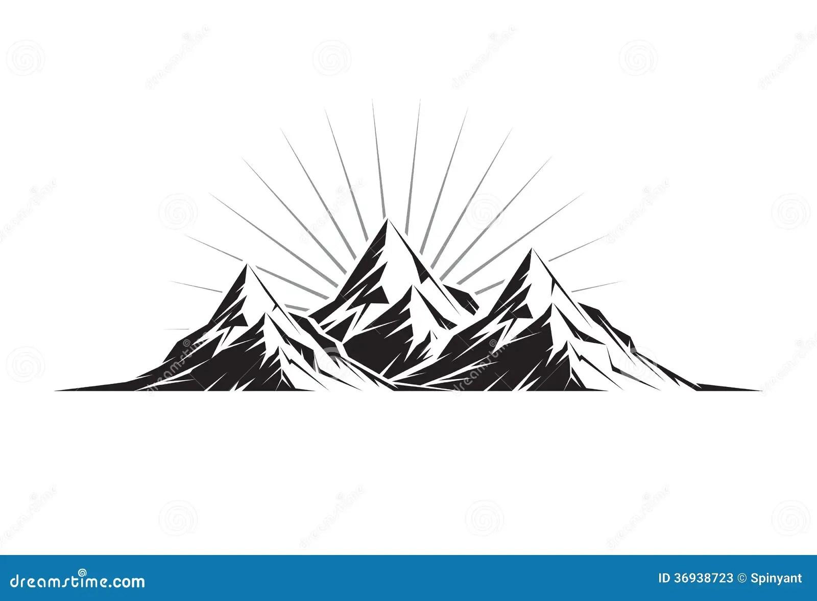 Three Peaks Stock Vector Illustration Of Climbing Symbol