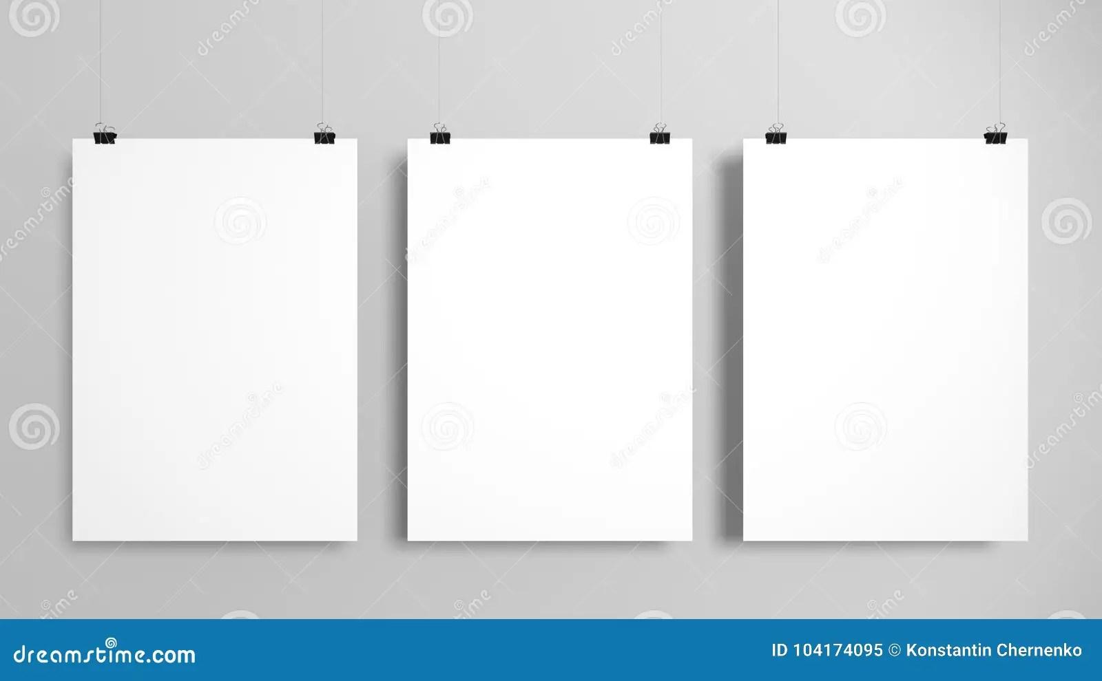 https www dreamstime com three poster mockup set three poster mockup set gray background d illustration image104174095