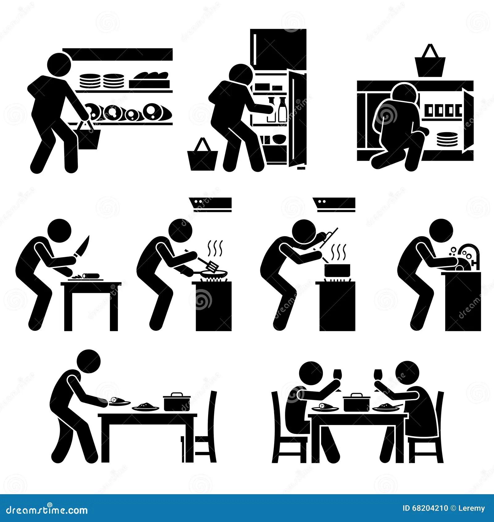 Thuis Het Koken Van En Het Voorbereiden Van Voedsel