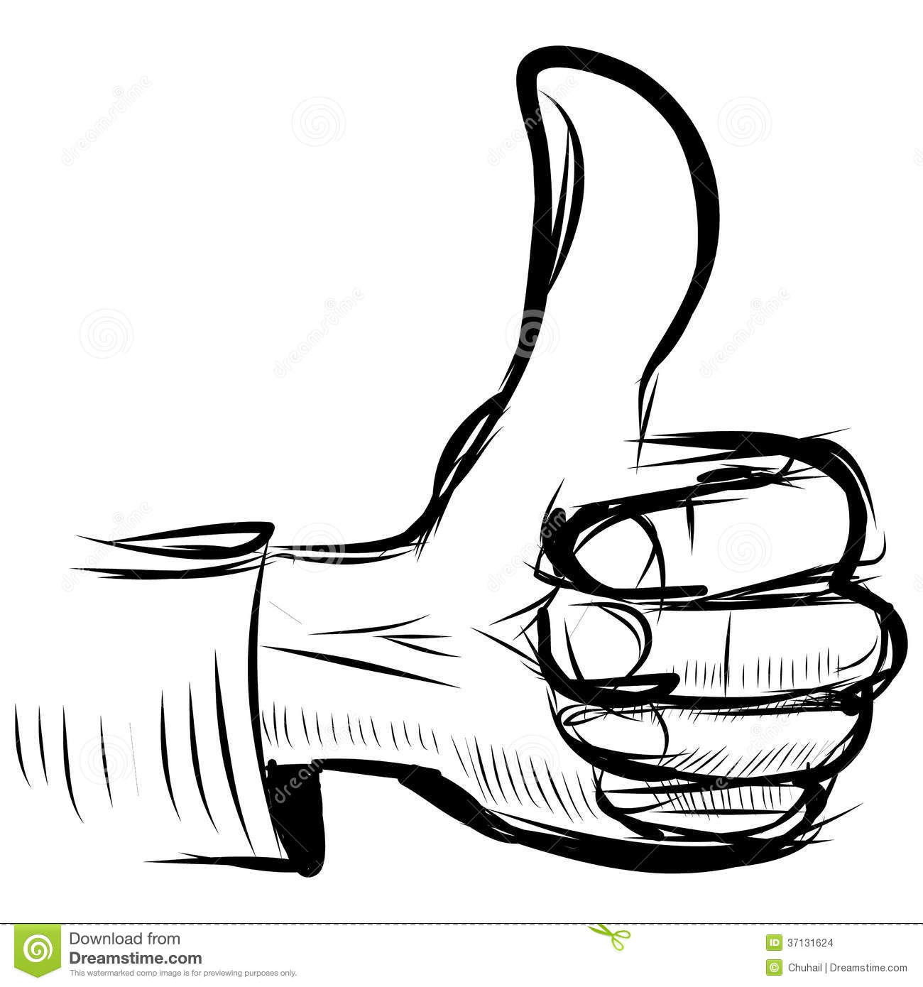 Thumb Up Like Hand Symbol Stock Images