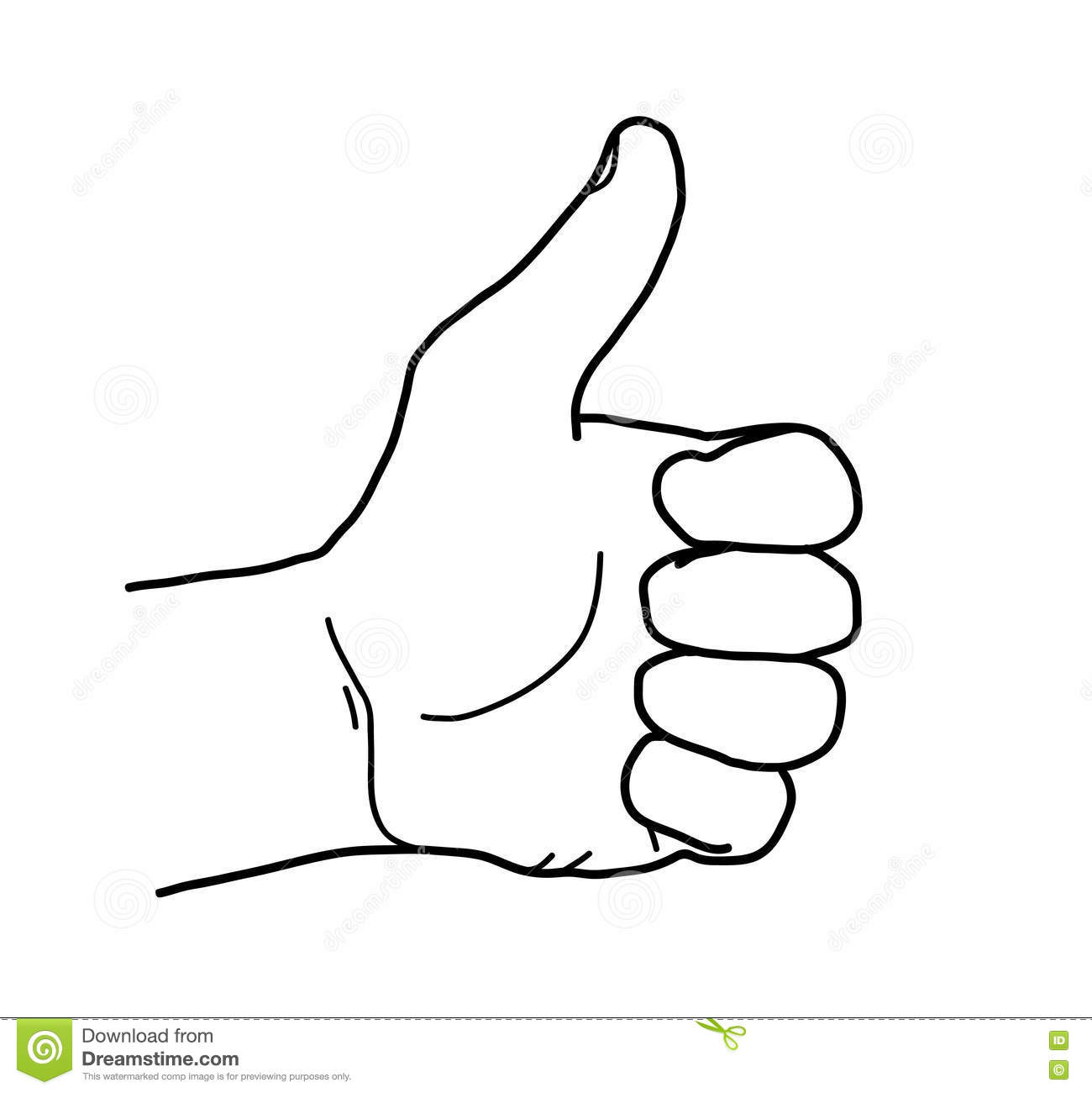 Thumbs Up Sketch Doodle Stock Vector Image Of Thumbs