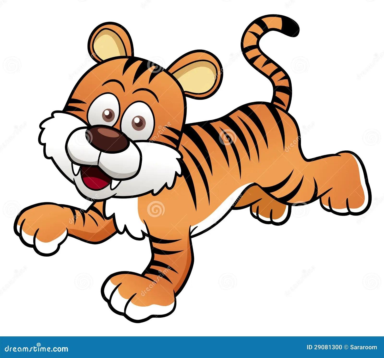 tiger cartoon vector stock photo image 29081300