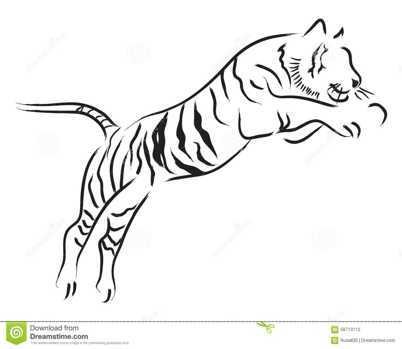 Tiger Jump Cartoon Vector