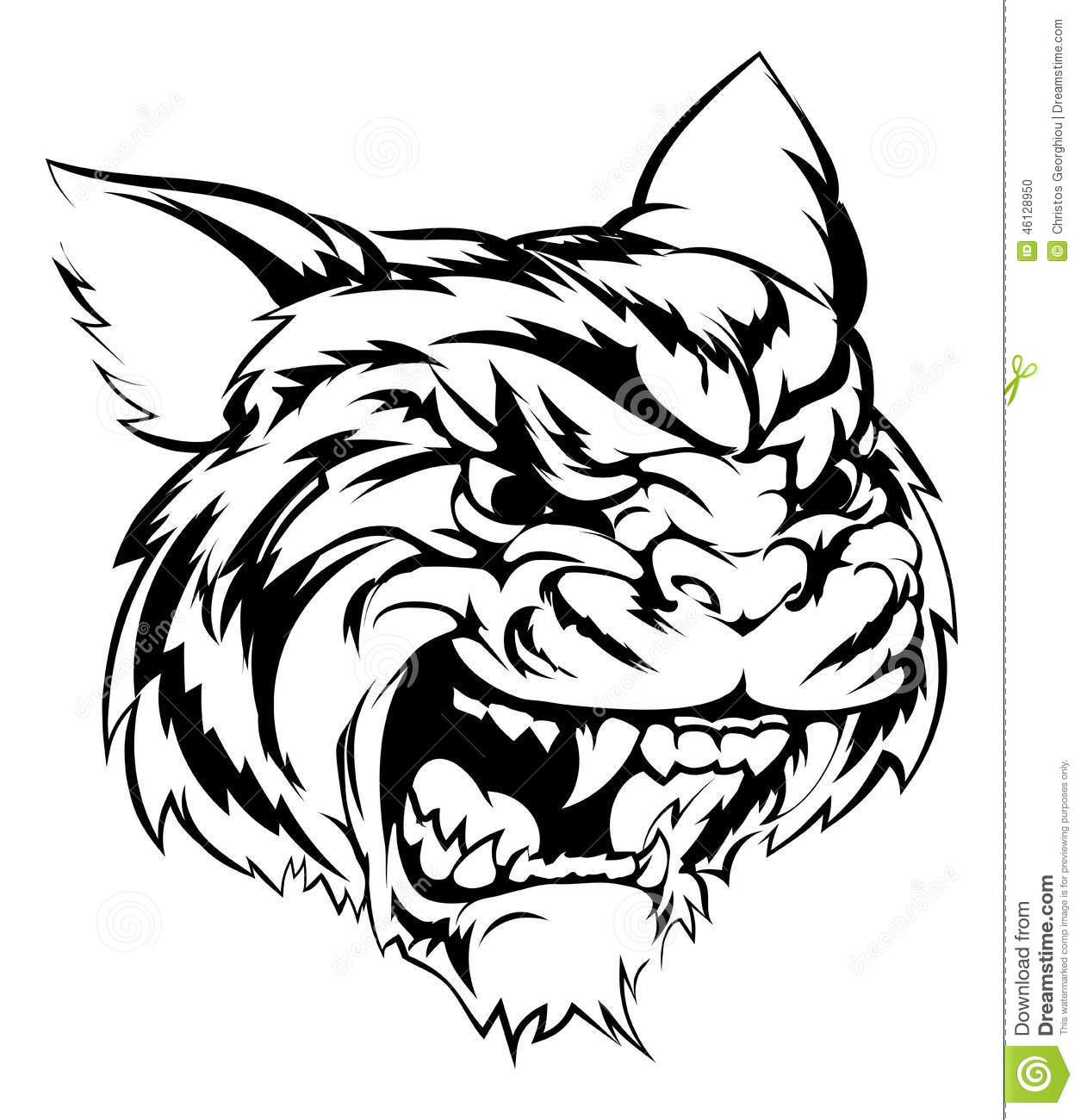 Tiger Mascot Character Stock Vector Illustration Of