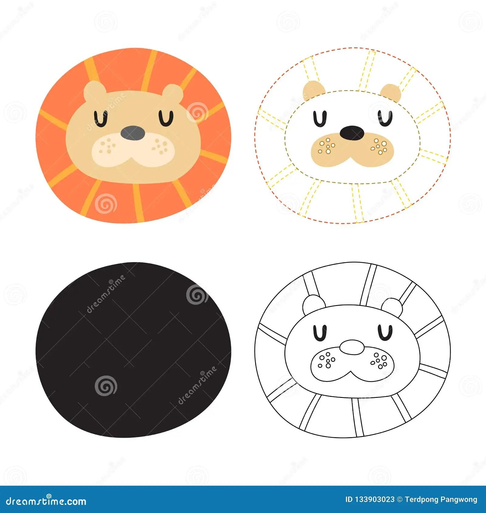 Tiger Worksheet Vector Design Stock Illustration