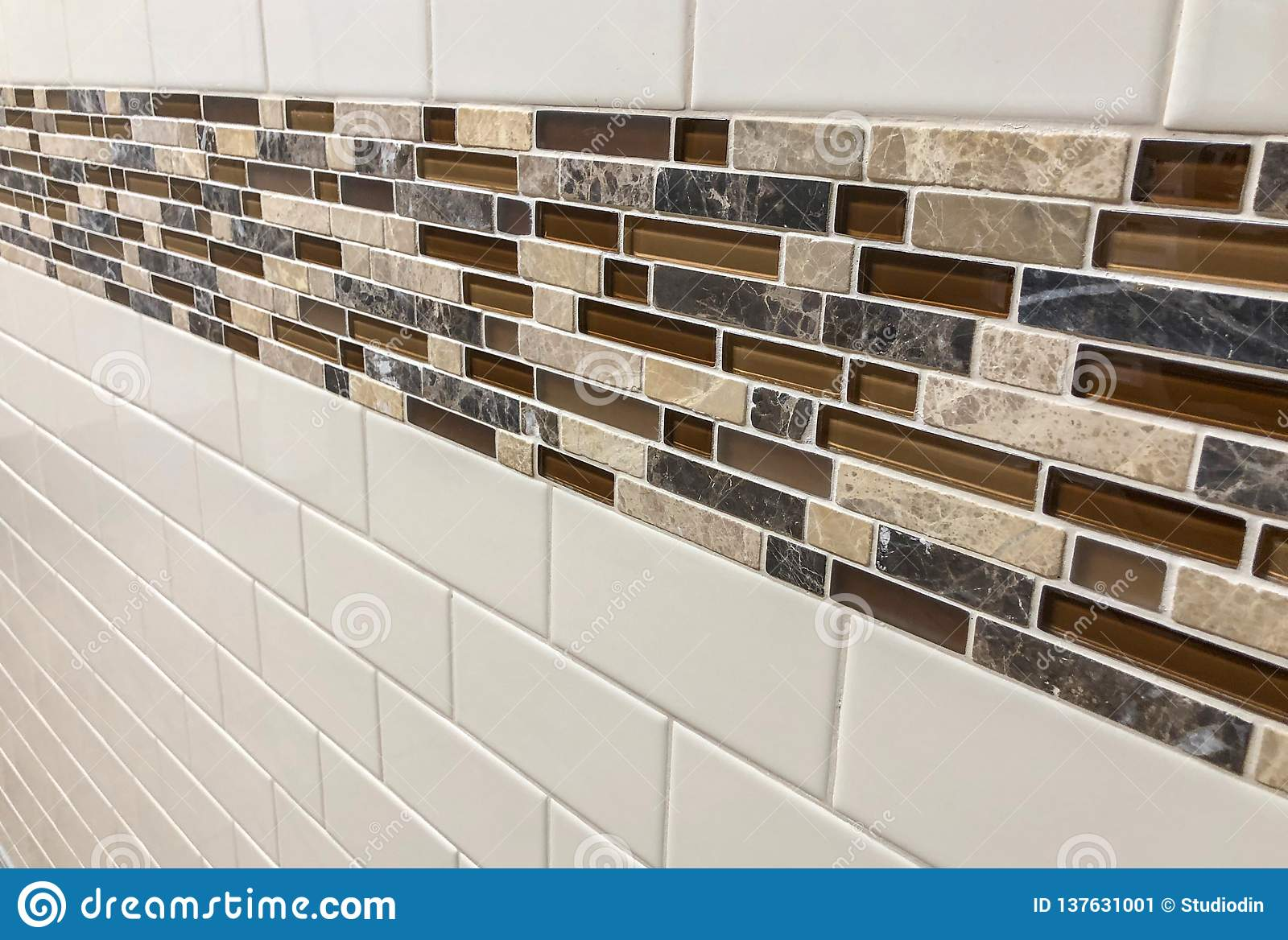 https www dreamstime com tiles made glass stone installed wall as decoration kitchen backsplash tiles made glass installed wall image137631001