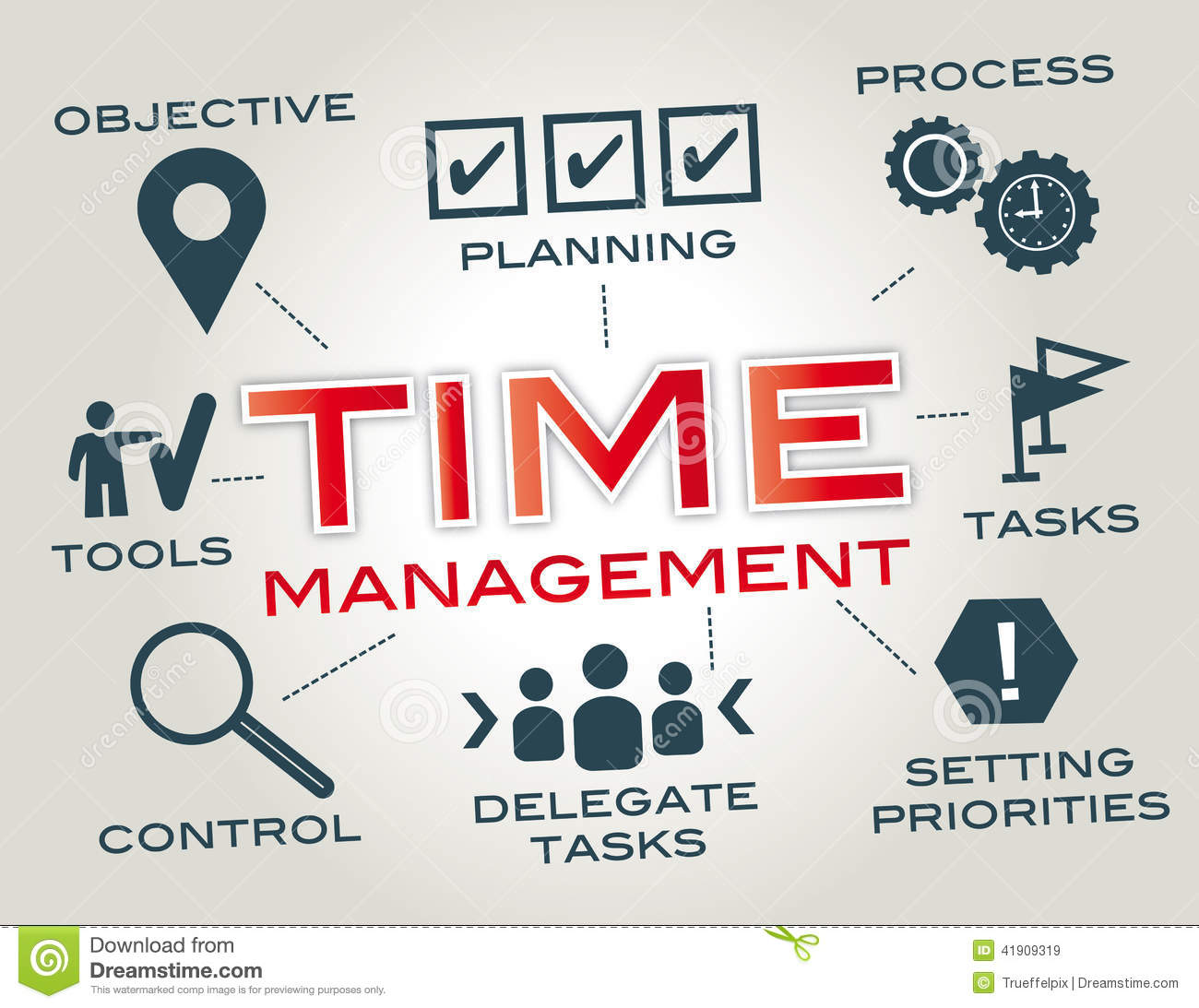 Time Management Stock Illustration