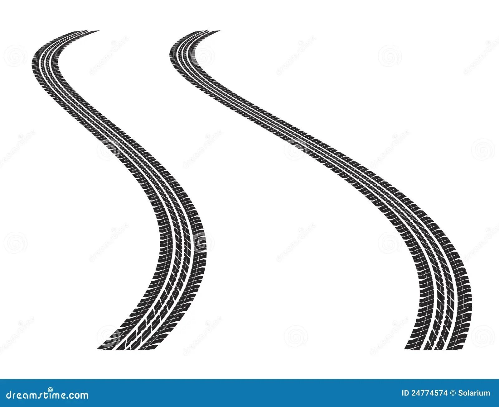 Tire Tracks Stock Vector Illustration Of Imprints Fast