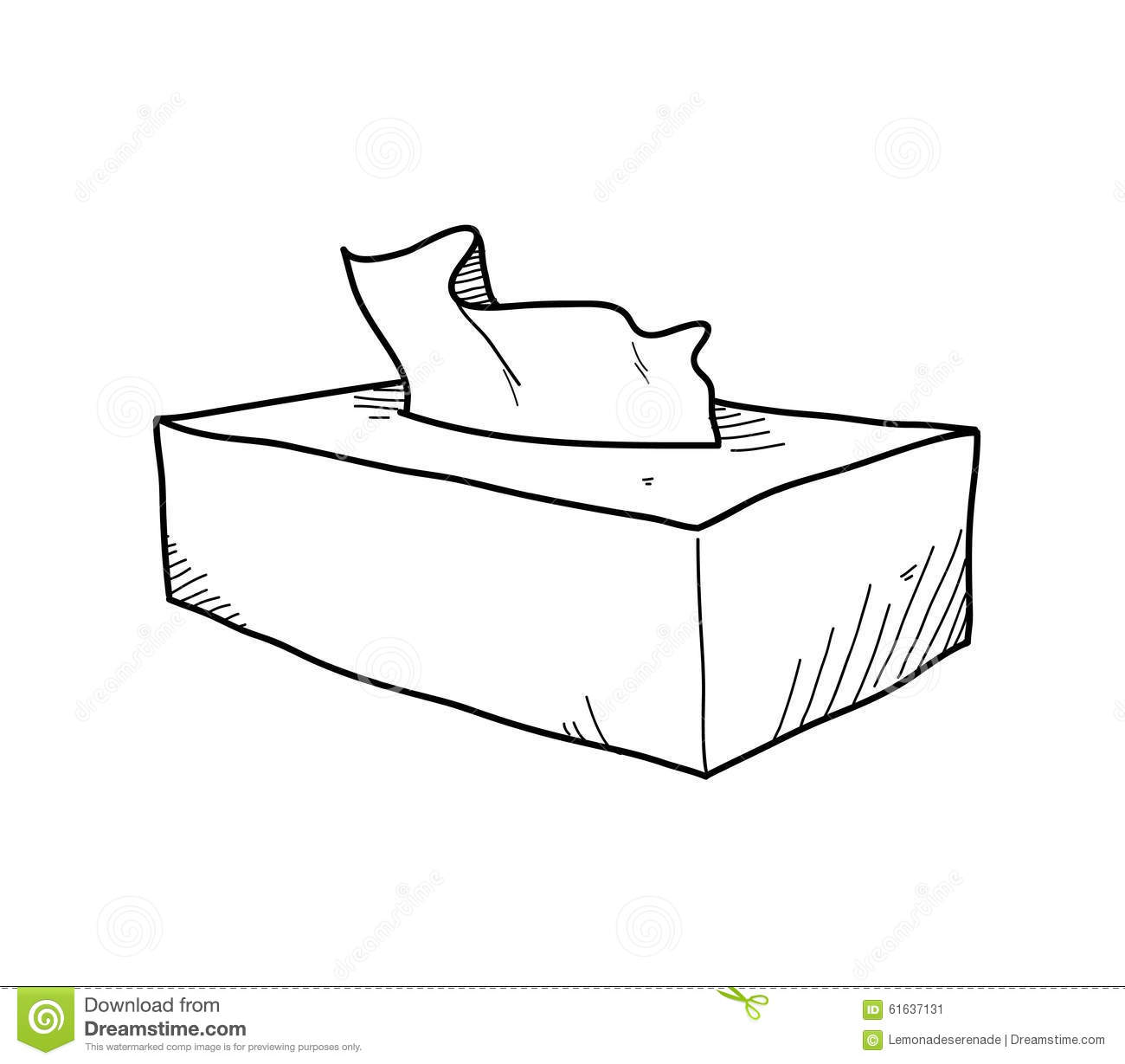 Coloring Tissue Box Coloring Pages
