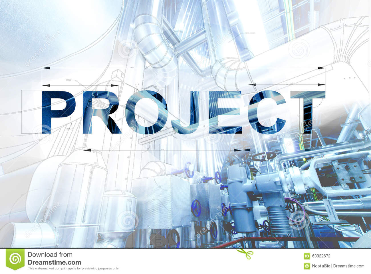 Title Page For Project Wireframe Computer Cad Design Of Pipelines For Modern Industrial Stock Photo Image Of Display Invention 68322672