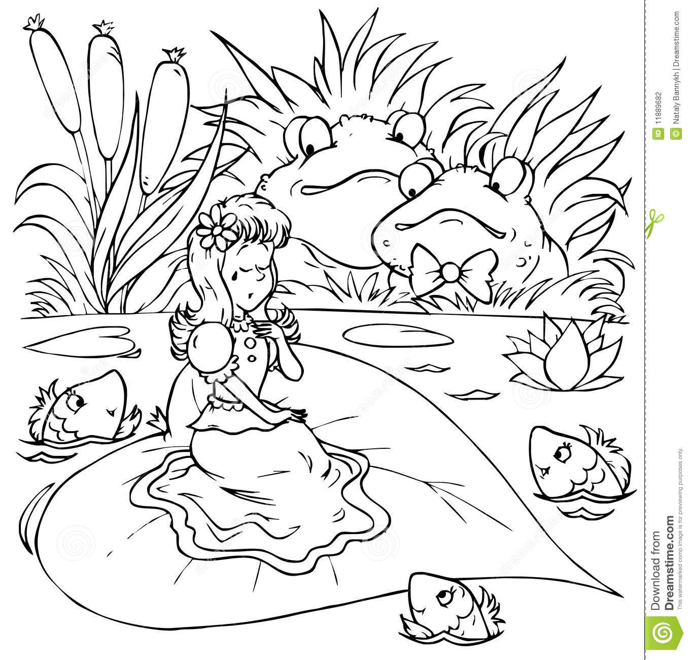 Toads And Little Girl In Tears Stock Photography