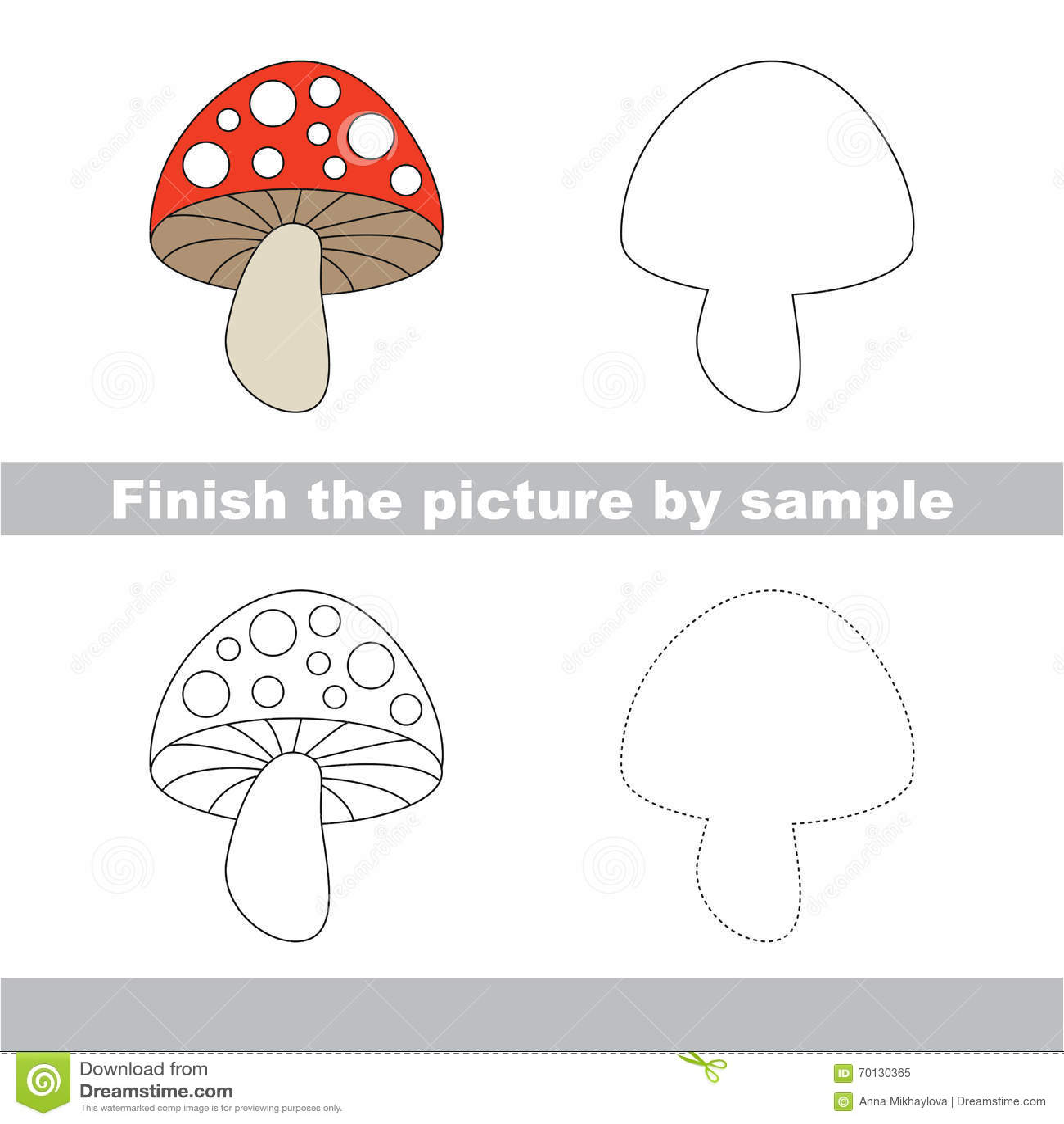 Complete Funghi Disegni Per Bambini
