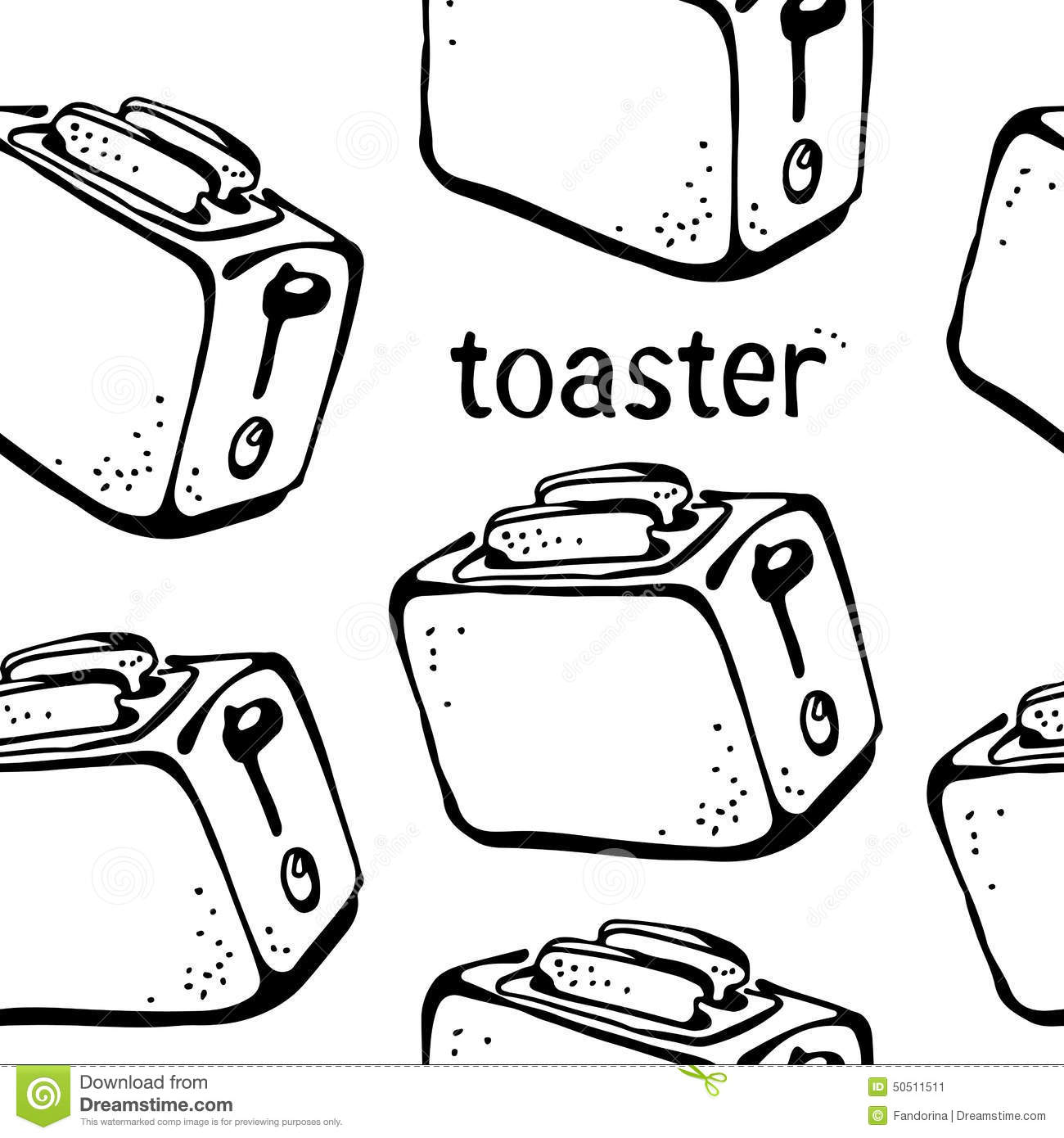 Toaster Pattern Stock Vector