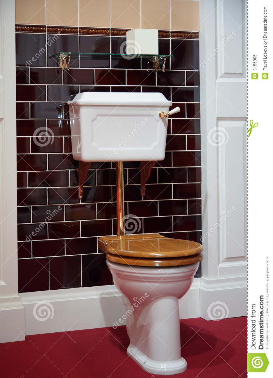 Toilet In Old Fashioned Style Royalty Free Stock Photo