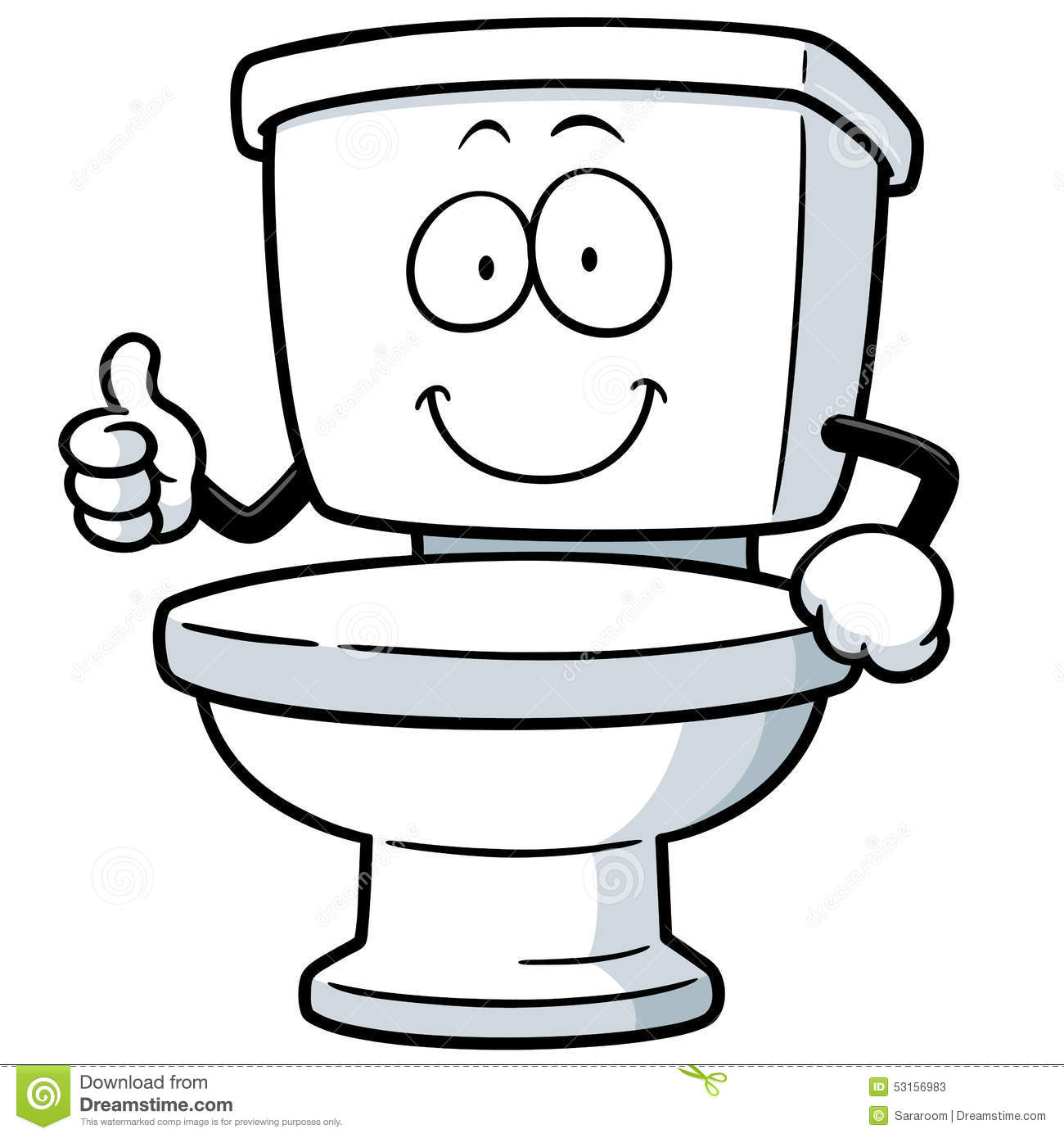 Toilet Stock Vector Illustration Of Holding Isolated