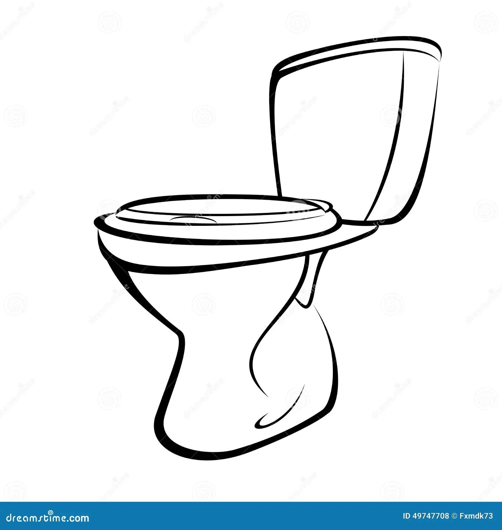 Toilette Illustration De Vecteur Illustration Du Blanc