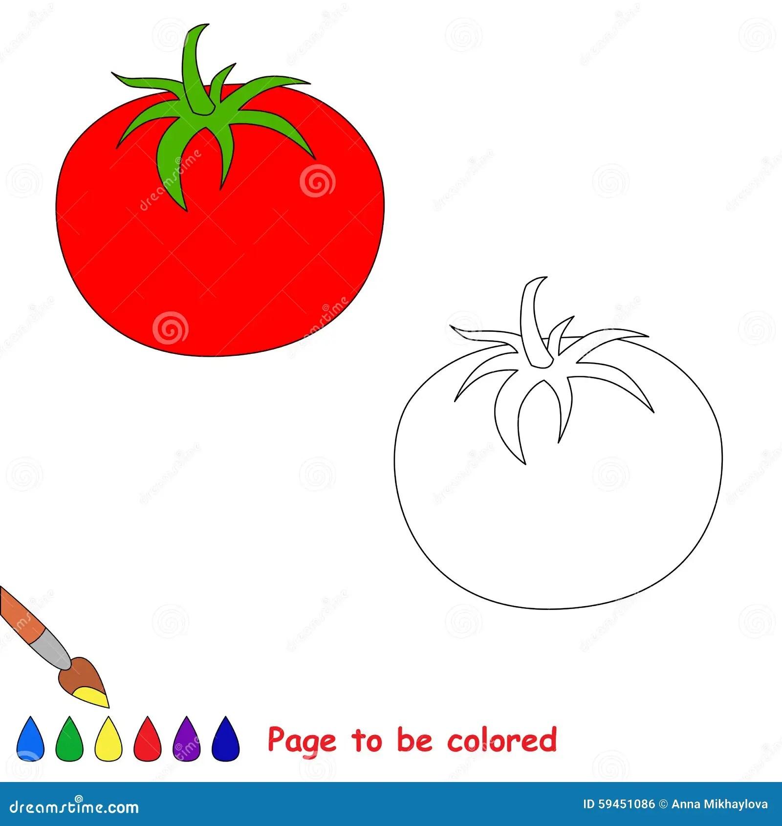 Tomate Dos Desenhos Animados A Ser Colorido Ilustracao Do