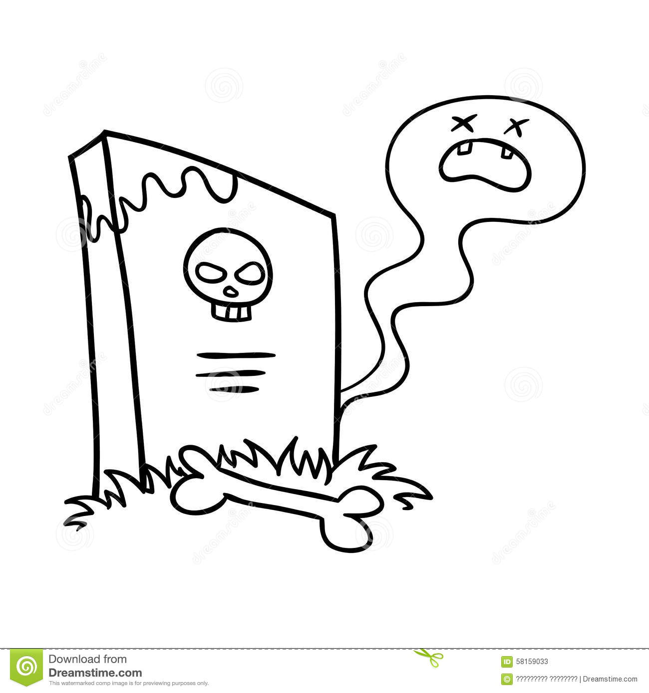 Tombstone Stock Illustration