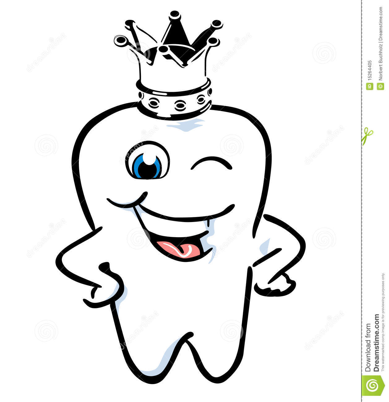 Tooth Crown Stock Vector Illustration Of Technician