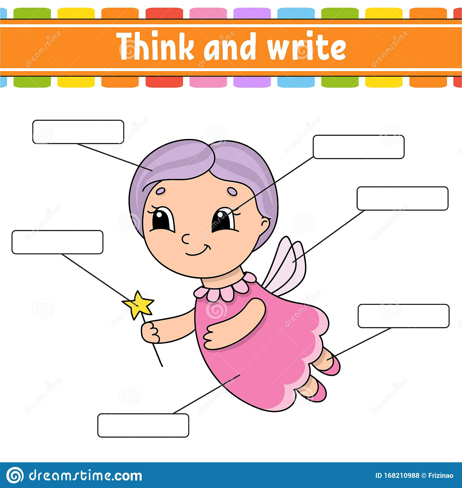 Tooth Fairy Think And Write Body Part Learning Words