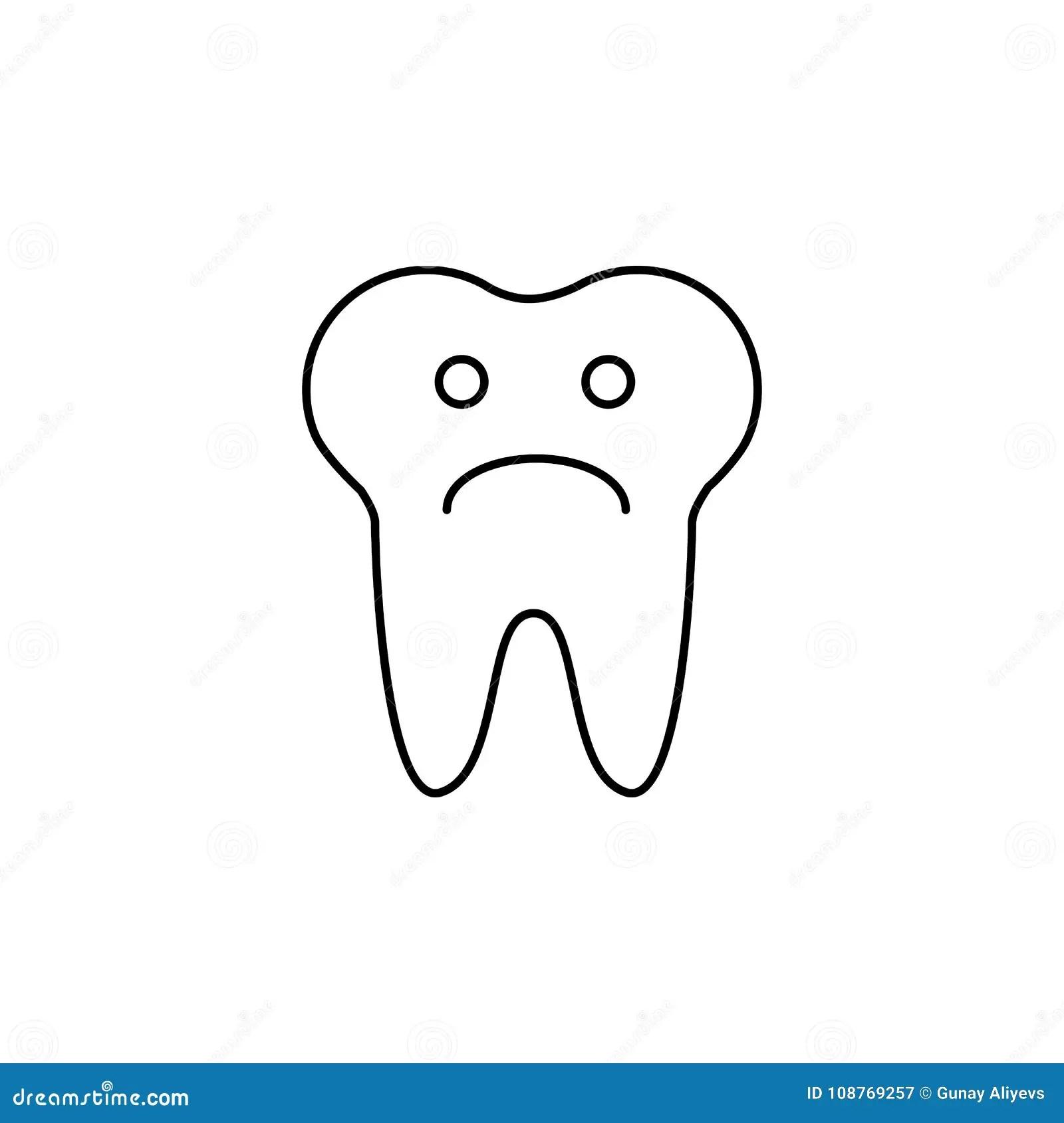 Teeth Chart Tooth Cartoon Vector
