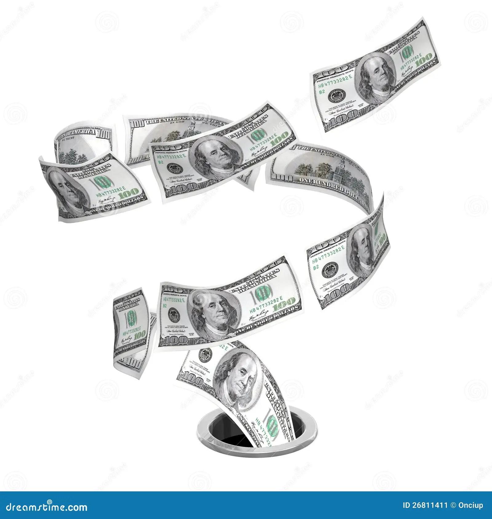 Tornado Dollars To Drain Stock Illustration Illustration