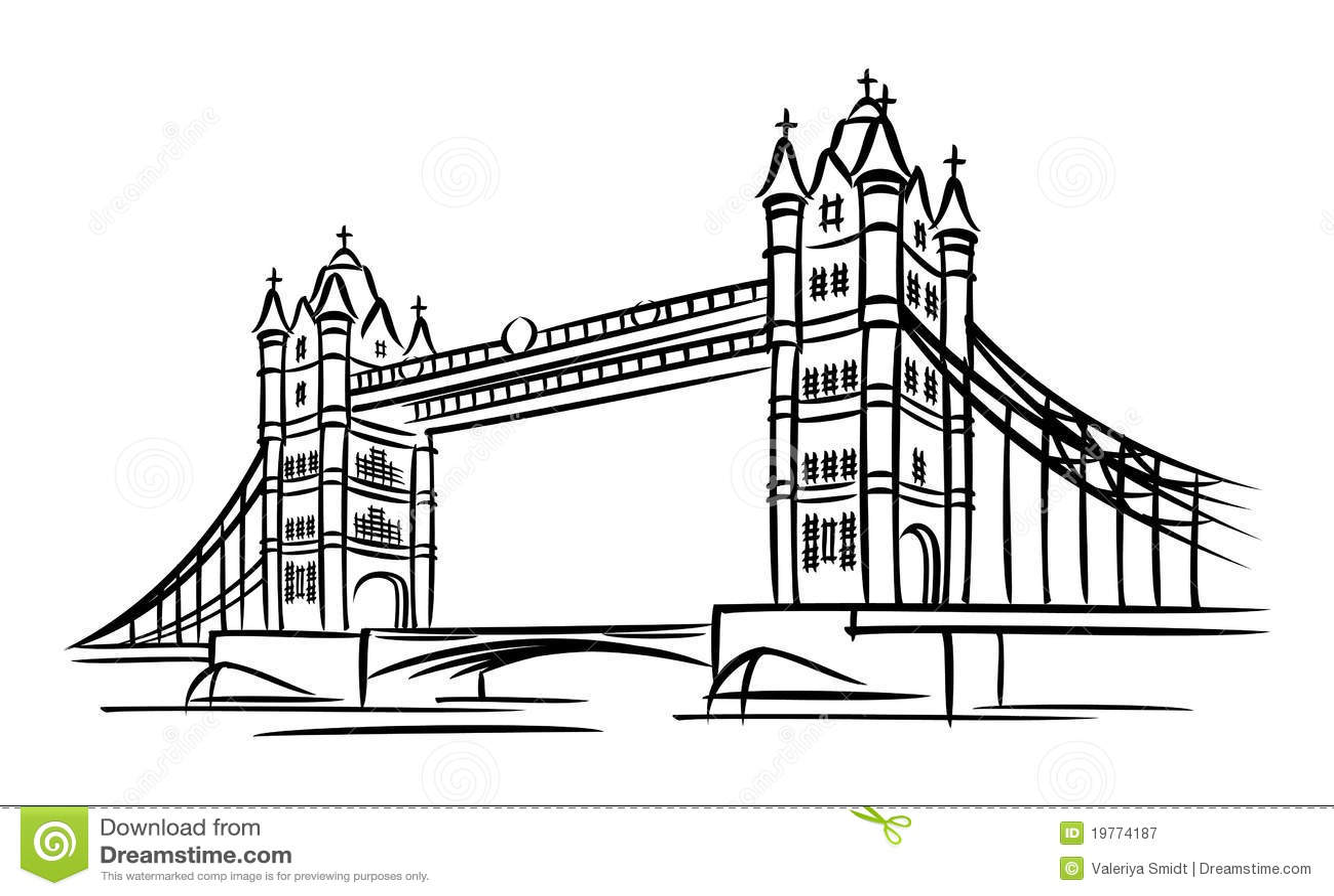 Tower Bridge Stock Vector Illustration Of Image English