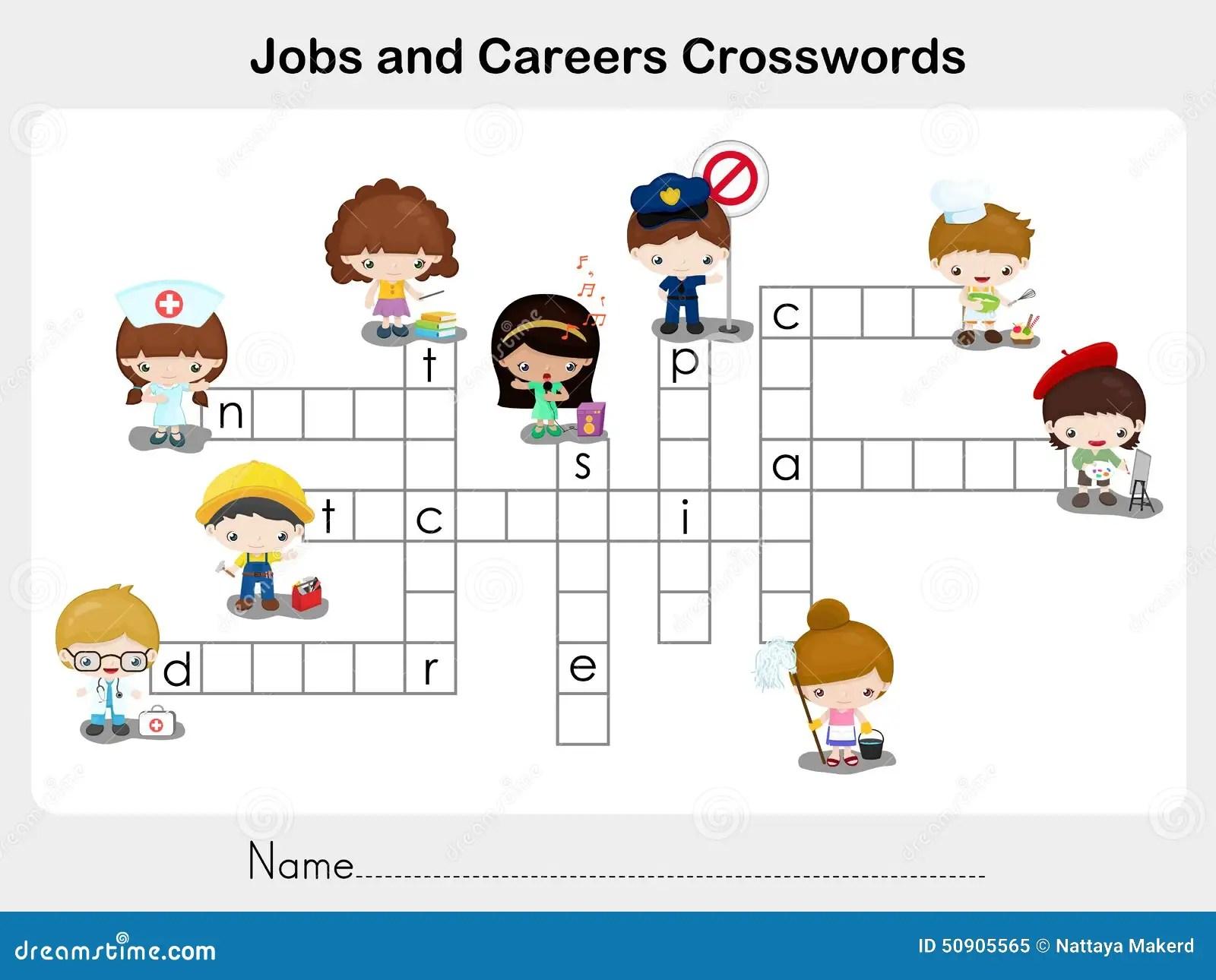 Trabajos Y Crucigramas De Las Carreras