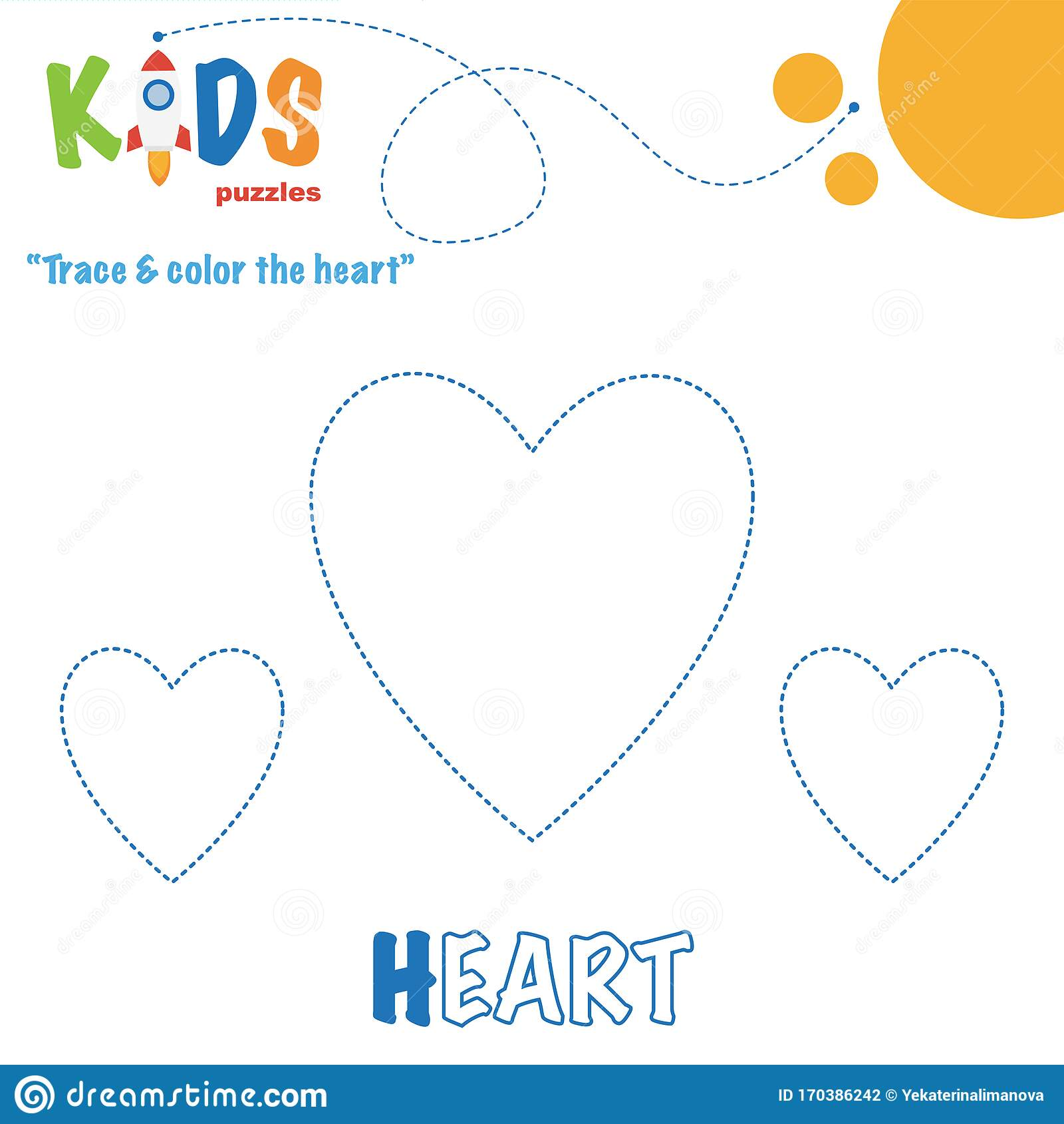 Trace Amp Color The Shape Preschool Worksheet Practice