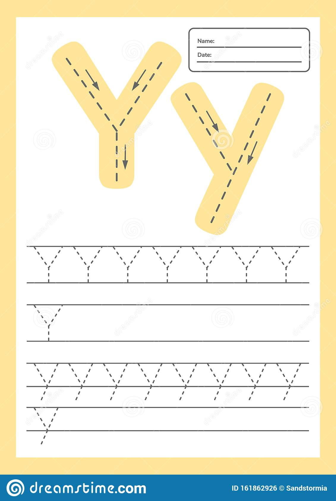 Trace Letters Worksheet A4 For Kids Preschool And School