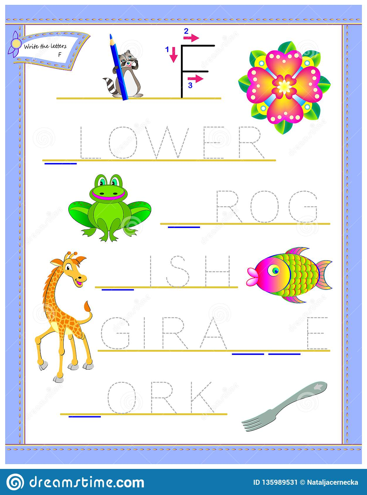 Tracing Letter F For Study English Alphabet Printable