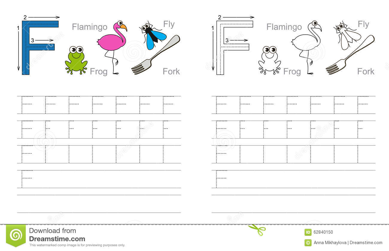 Free Worksheet For Letter F