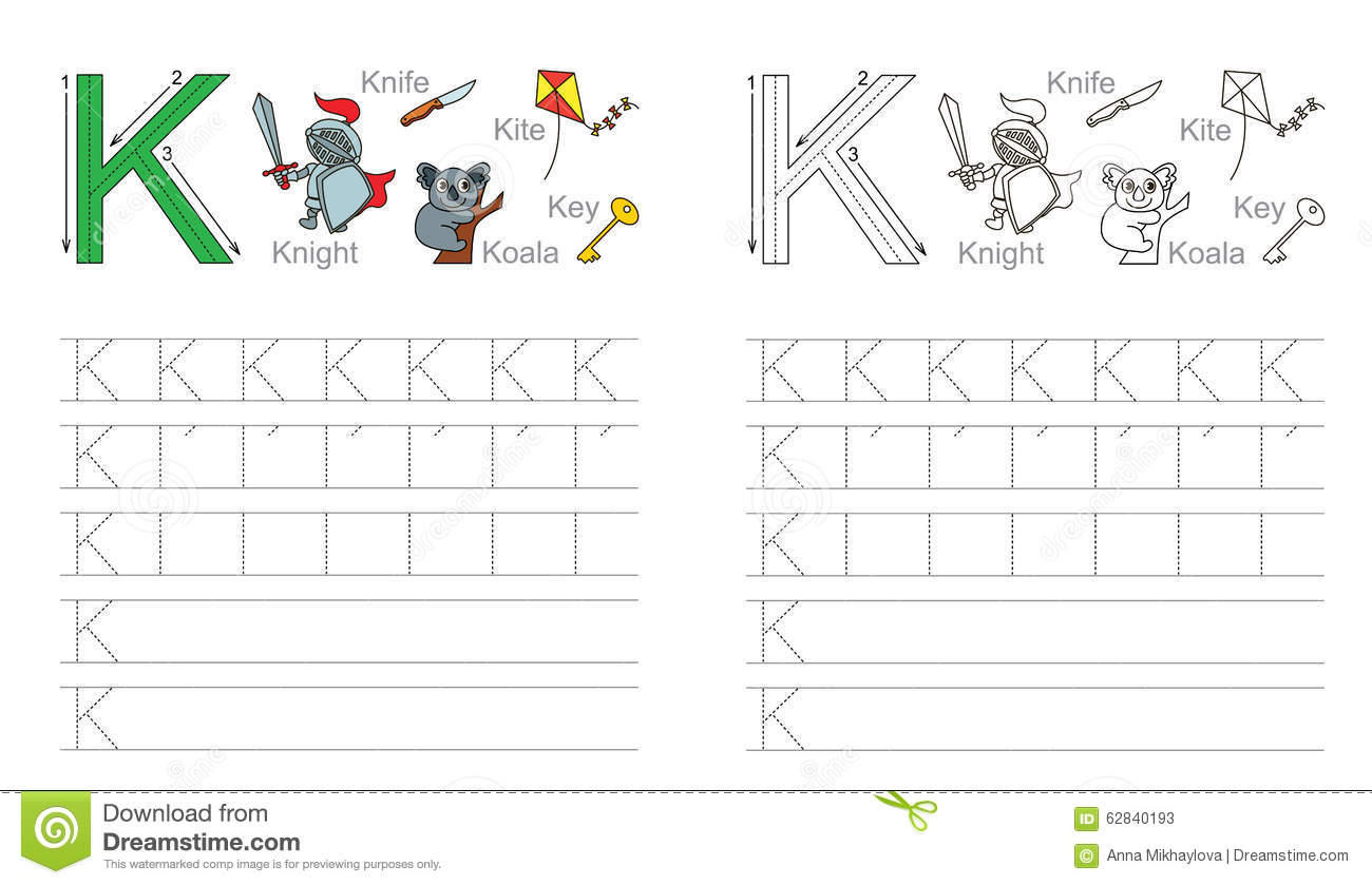 K Tracing Worksheet
