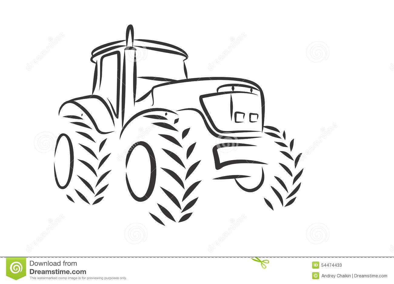 Tracteur De Logo Illustration De Vecteur Illustration Du