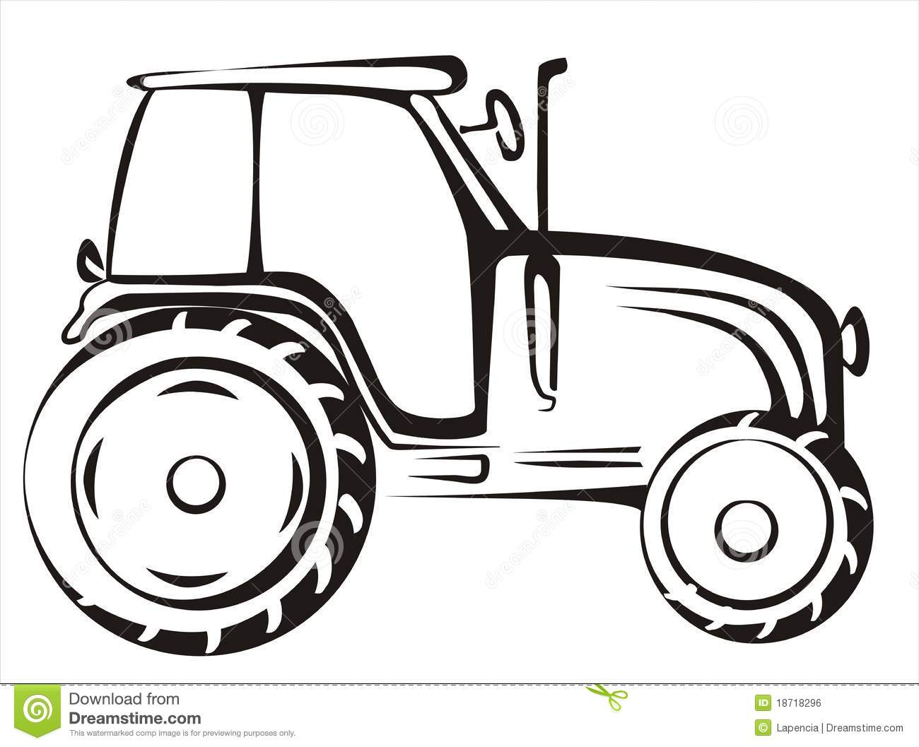 Tractor Isolated Vector Illustration Royalty Free Stock