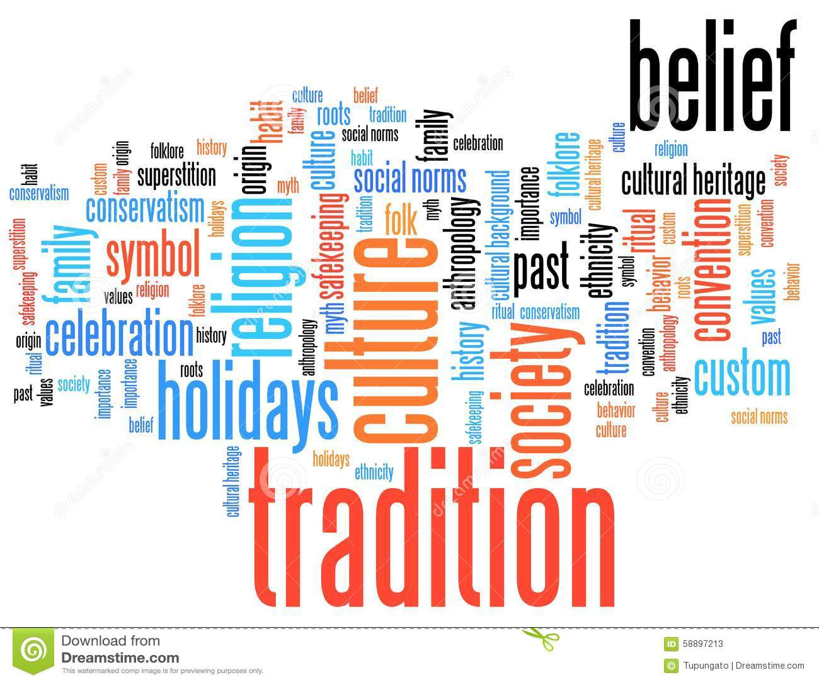 Tradition Stock Illustration