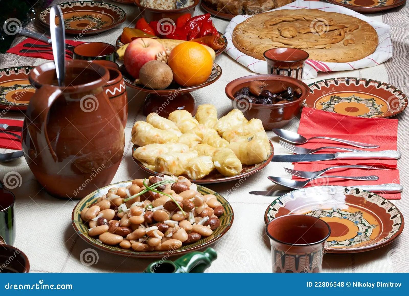 Traditional Bulgarian Christmas Food Stock Photo Image