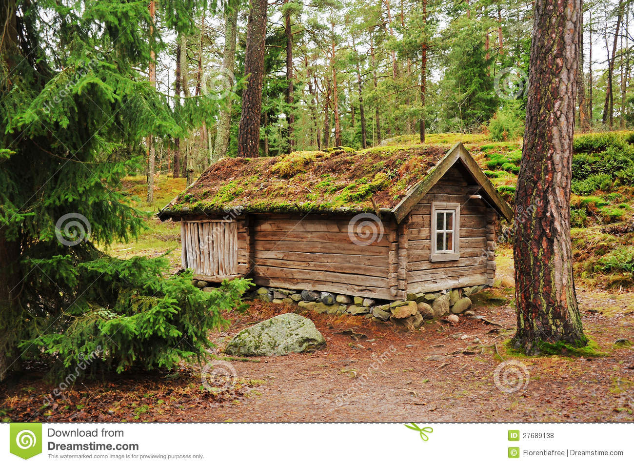 Building Garden Log Cabin