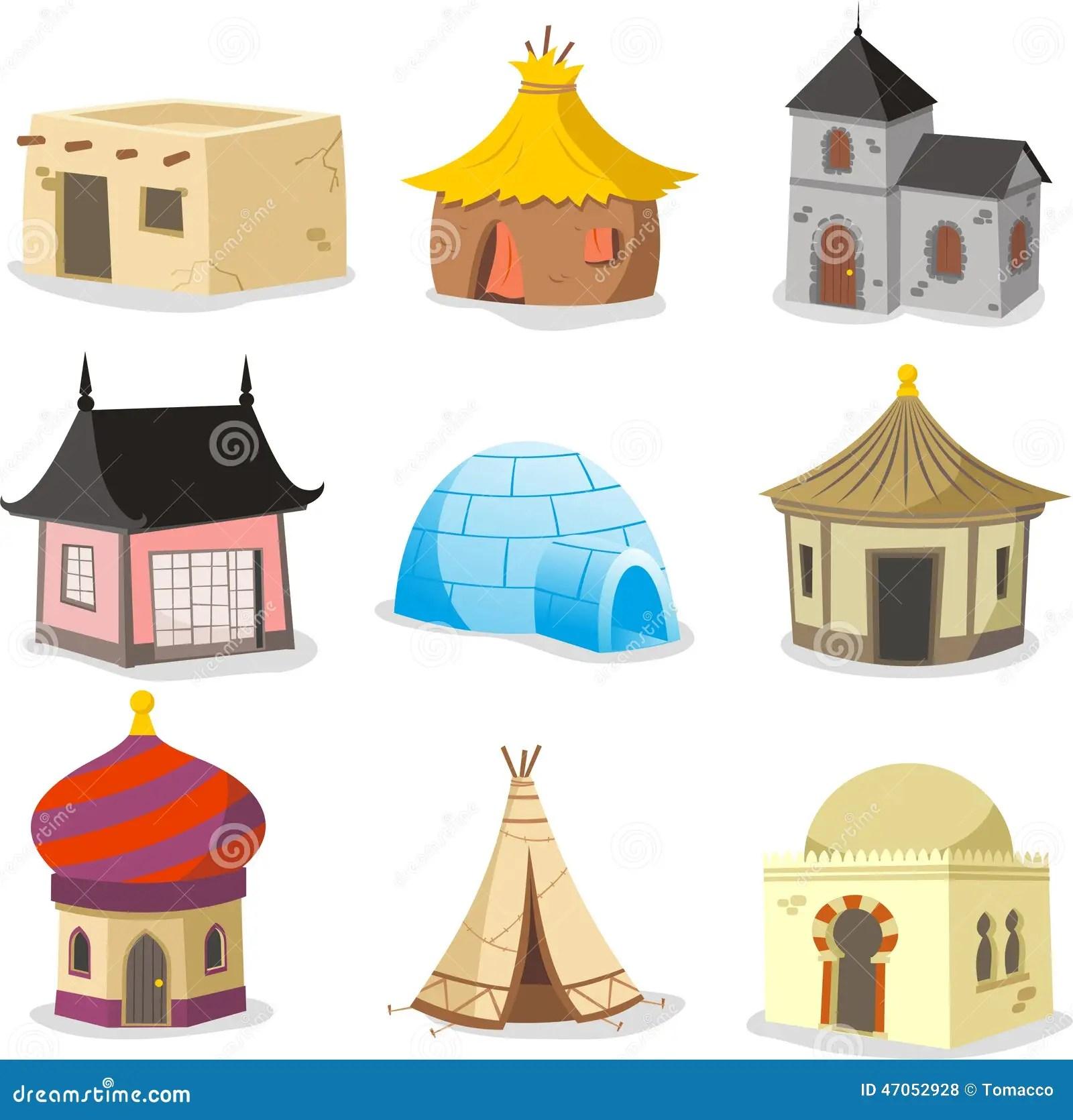 Traditional Houses House Igloo Hut Shack Slum Cabinet